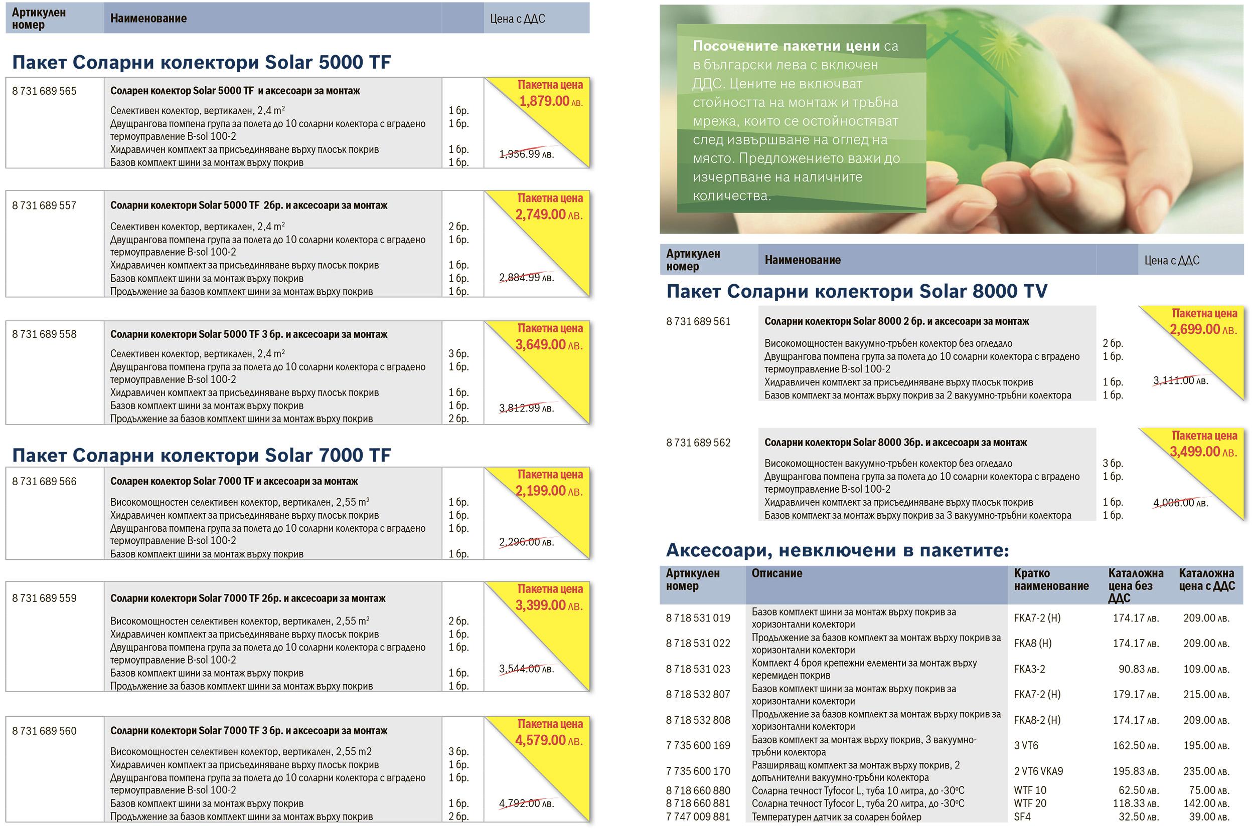Промоция на пакети соларни колектори BOSCH